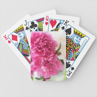 Peony Flowers Close-up Sketch Bicycle Playing Cards