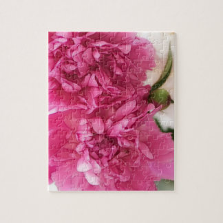 Peony Flowers Close-up Sketch Jigsaw Puzzle