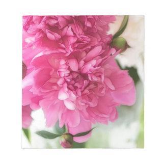 Peony Flowers Close-up Sketch Notepad