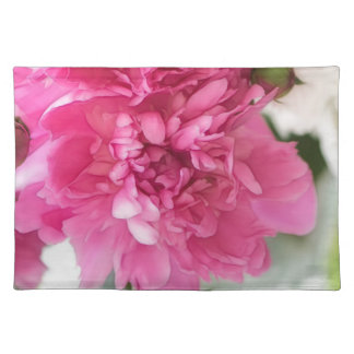 Peony Flowers Close-up Sketch Placemat