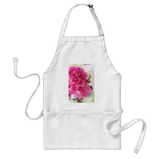 Peony Flowers Close-up Sketch Standard Apron