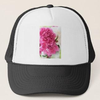 Peony Flowers Close-up Sketch Trucker Hat