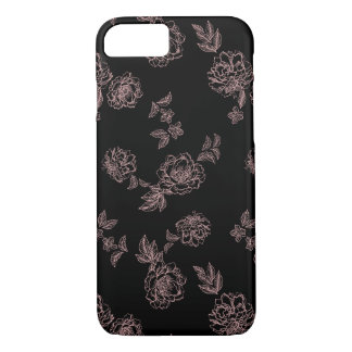 Peony Flowers Pink iPhone 8/7 Case