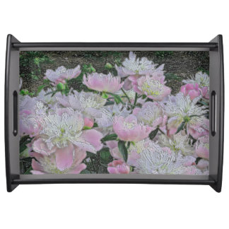 """""""PEONY GARDEN"""" /PHOTOG.WITH DIGITAL EFFECTS SERVING TRAY"""