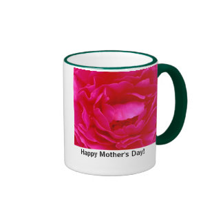 peony, Happy Mother's Day! Ringer Coffee Mug