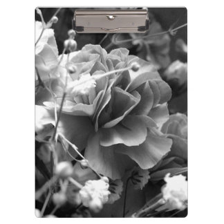 Peony in Black and White Clipboard