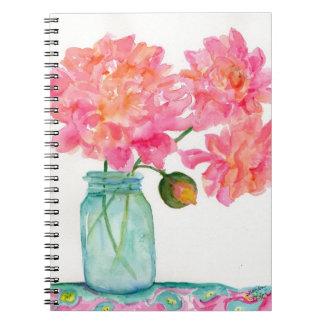 Peony Notebook