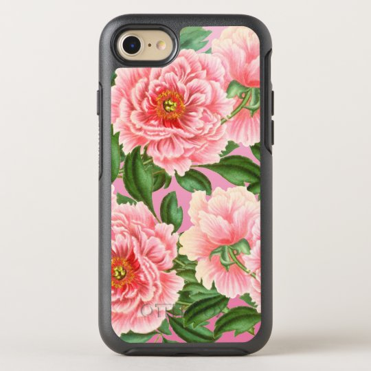 Peony Pink On Pink OtterBox Symmetry iPhone 8/7 Case