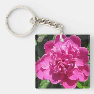 Peony Pretty Pink Key Ring