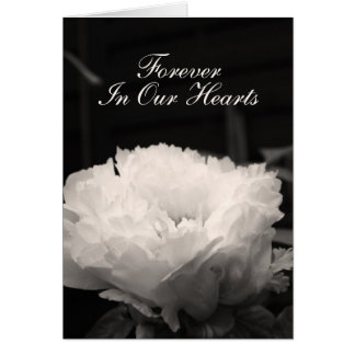 Peony Sepia frame inside Funeral Announcement