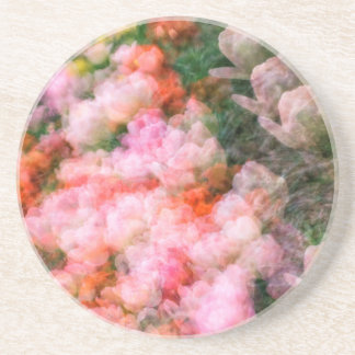 Peony Tulips in Full Bloom Coaster