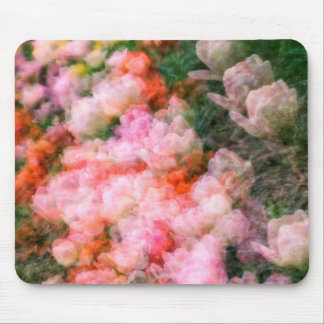 Peony Tulips in Full Bloom Mouse Pad