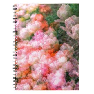 Peony Tulips in Full Bloom Notebooks