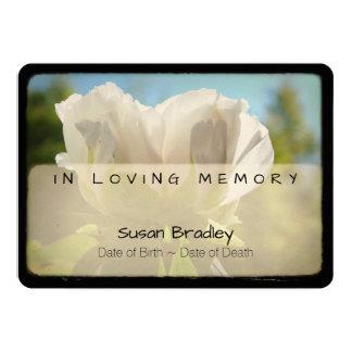 Peony Vintage Funeral Memorial Service 2 Card