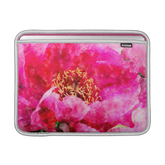 peony watercolor pink MacBook sleeve