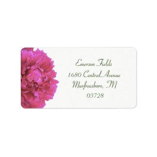 Peony Wedding Address Labels
