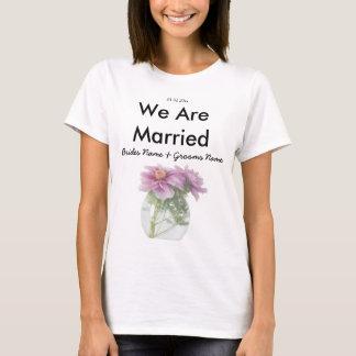Peony Wedding Souvenirs Keepsakes Giveaways T-Shirt