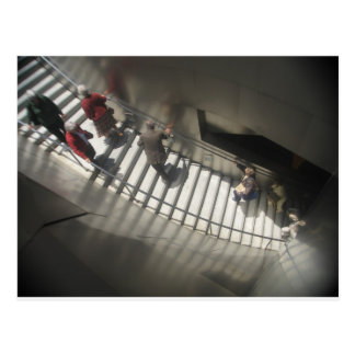 People and stairs By Bernadette Sebastiani Postcard