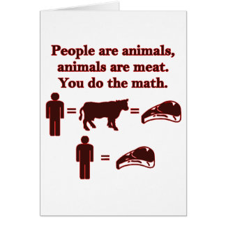 People are Animals: Meat Math Card