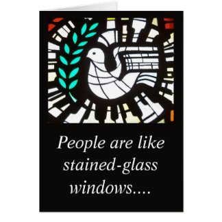 People are liked stained glass card