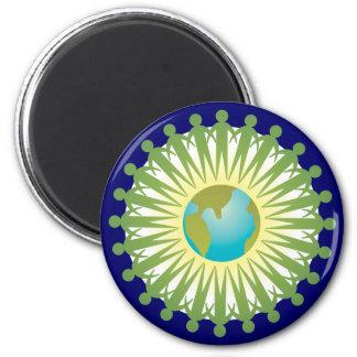 People Around The World 6 Cm Round Magnet