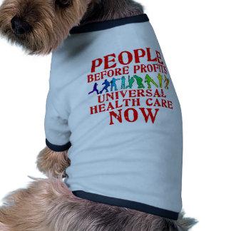 People Before Profits Health Care Design Ringer Dog Shirt
