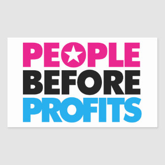 People Before Profits Sticker