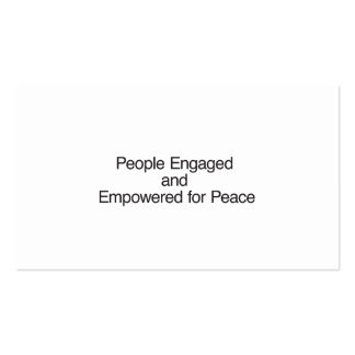 People Engaged and Empowered for Peace Business Card Template
