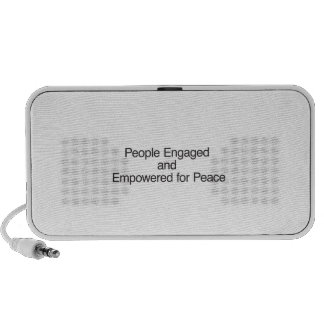 People Engaged and Empowered for Peace Portable Speaker