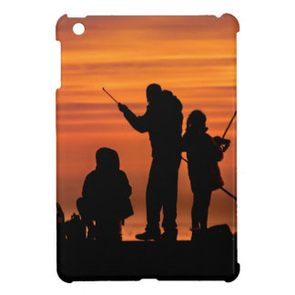 People Fishing at Breakwater iPad Mini Covers