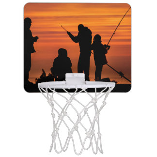 People Fishing at Breakwater Mini Basketball Hoop