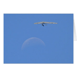 People Flew Over the Moon at Noon Card