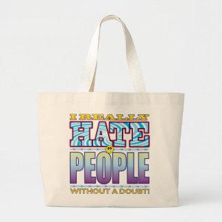 People Hate Face Jumbo Tote Bag