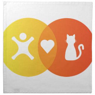 People Heart Cats Venn diagram Napkin