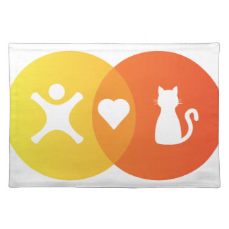 People Heart Cats Venn diagram Placemat
