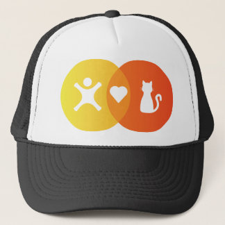 People Heart Cats Venn diagram Trucker Hat