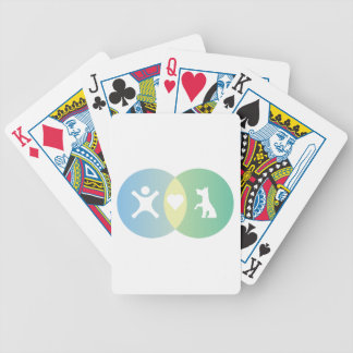 People Heart Dogs Venn diagram Bicycle Playing Cards