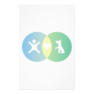 People Heart Dogs Venn diagram Stationery