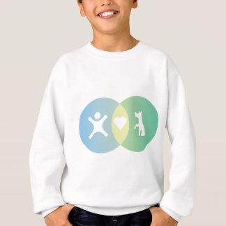 People Heart Dogs Venn diagram Sweatshirt