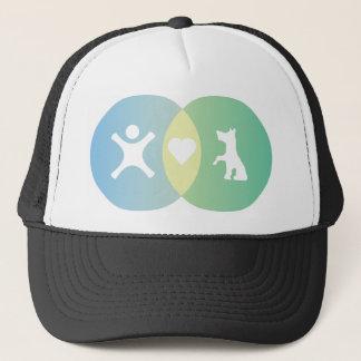 People Heart Dogs Venn diagram Trucker Hat