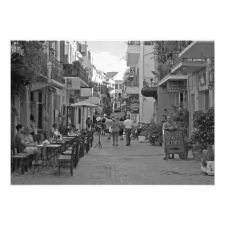 People in the town photo print
