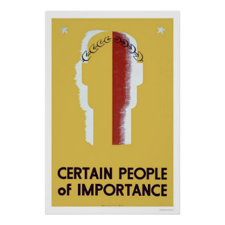 People Of Importance 1937 WPA Poster