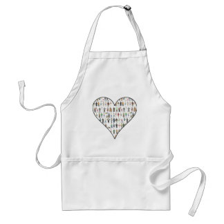 People of NYC New Yorkers Illustrated Heart Apron