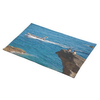 People on an islet placemat
