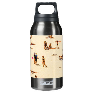 People On Beach Sandy Insulated Water Bottle