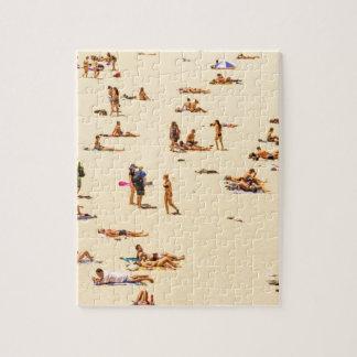 People On Beach Sandy Jigsaw Puzzle