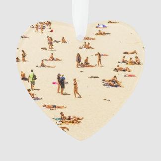 People On Beach Sandy Ornament