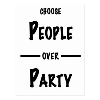 People over Party gifts Postcard
