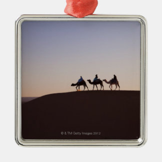 People riding camels, Morocco Metal Ornament
