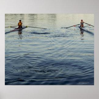 People Rowing Posters